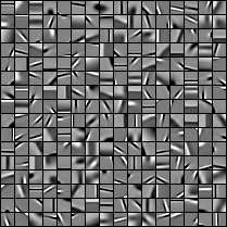 76 Sparsity and Nonconvex Optimization Fig. 7.3. Left: Example of dictionary with p = 256 elements, learned on a database of natural 12 12 image patches when Ω is the l 1 -norm.