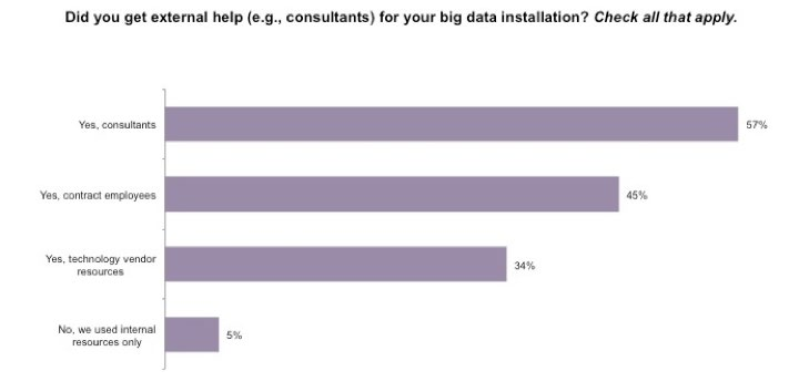 6 Big Success with Big Data Figure 4: Sourcing big data support Did you get external help for your big data