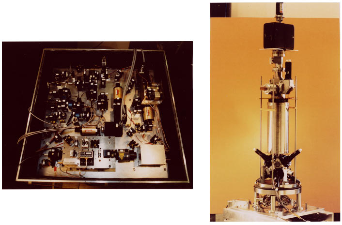 716 Claude N. Cohen-Tannoudji: Manipulating atoms with photons FIG. 11. (Color) The microgravity clock prototype.