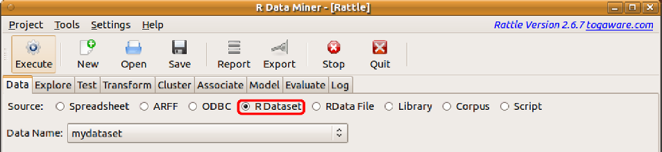 4.4 R Dataset Other Data Sources 87 myds (as defined above). This dataset can be accessed in Ratte with the R Dataset option, which we now introduce. 4.