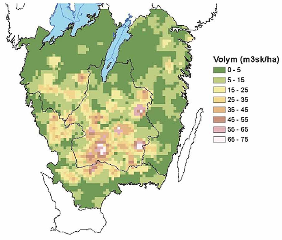 w h at science can tell us 20 Number of annual cuttings 15 10 5 0 Sweden Götaland region Kronoberg county Worst hit forest district Figure 23.
