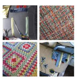 Figure 52: Similarly to sensory cushions, sensory armchair covers can have buttons and ribbons attached, or feature a patchwork of various textile materials and techniques such as crochet and
