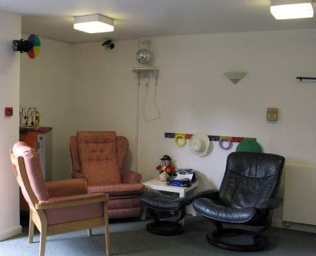 Example of a transformed Sensory Room: before and after BEFORE (October 2013): The room is cluttered with furniture and