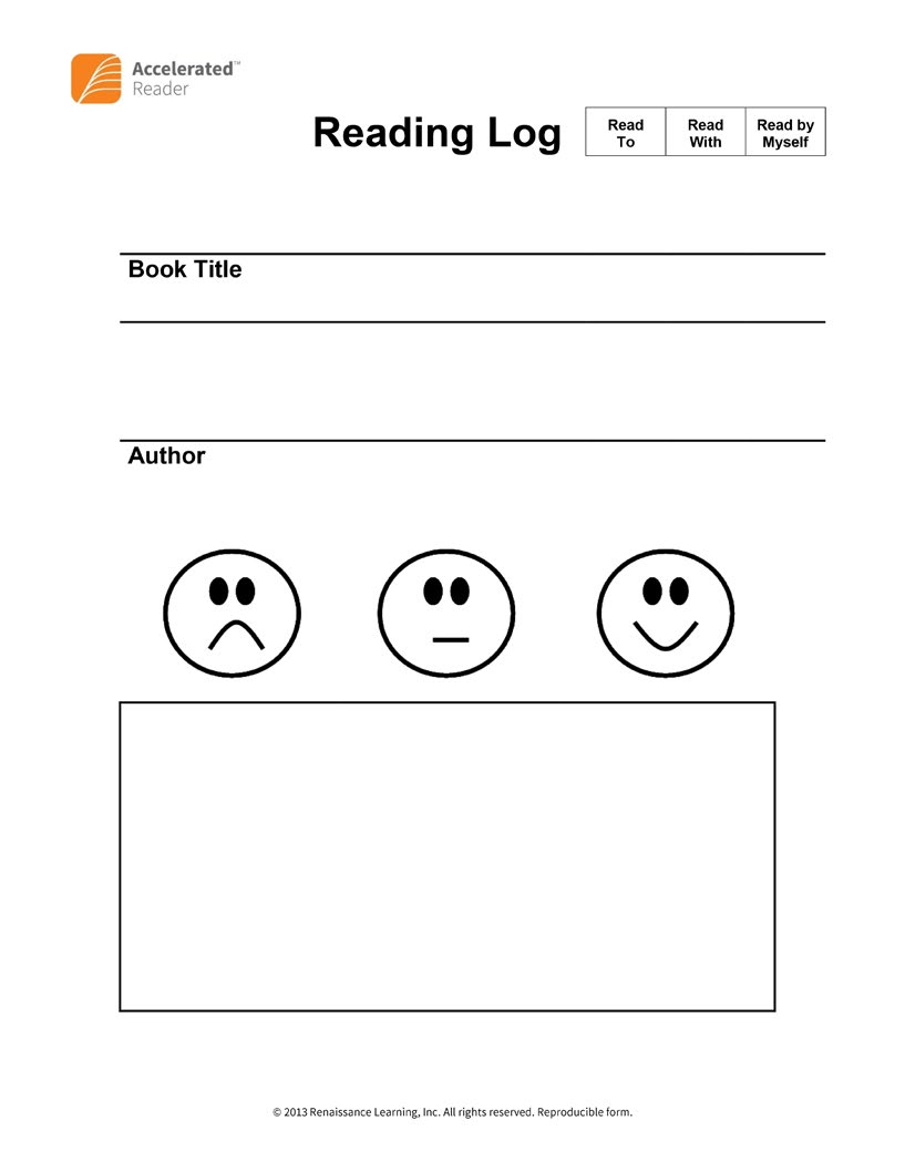 Establishing Reading Practice with Emergent Readers The appendix also includes a simplified log you might like to use with kindergarten students.