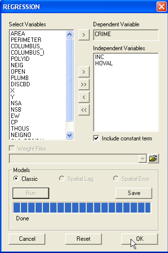 Figure 22.12: Predicted values and residuals variable name dialog. Figure 22.
