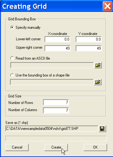 Use the Table toolbar button to open the associated data table. Note how it only contains the POLYID identifier and two geometric characteristics, as shown in Figure 5.13 on p. 33.