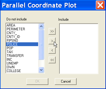 3 Parallel Coordinate Plot (PCP) An alternative to the scatter plot matrix is the parallel coordinate plot (PCP).