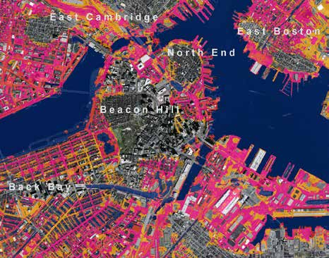 Image credit: The Boston Harbor Association Risk Profile The 2014 National Climate Assessment projects that sea level may rise from about one to four feet with an upper end of 6 feet by 2100.