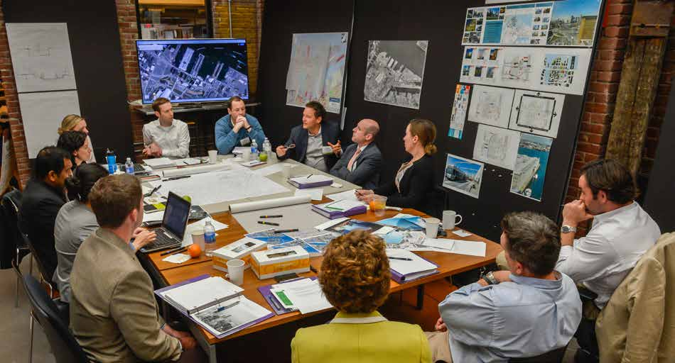 Above The Innovation District team at work during The Urban