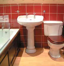 For example, the toilet seat should contrast with both the floor and the pan, and the cistern should contrast with the wall.
