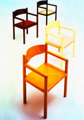 Sunar chairs, 1979 This easy chair and sofa, designed by Lella, are a response to
