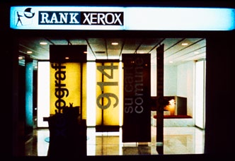 Rank Xerox showroom, Milano, Italy, 1964 We designed two showrooms to