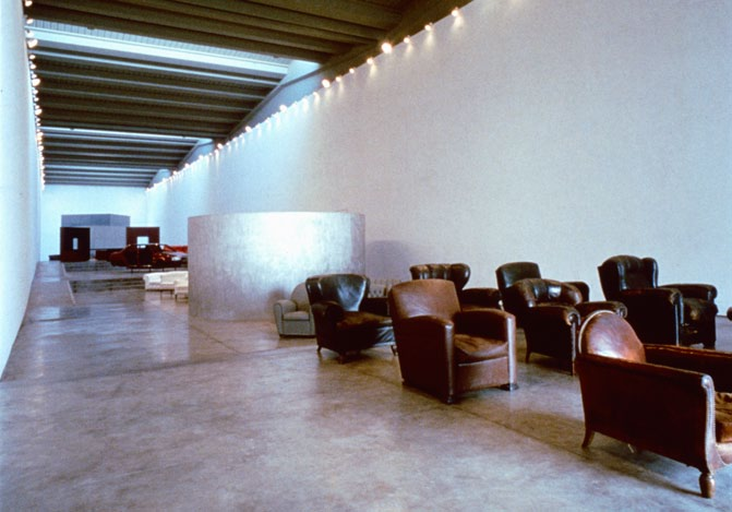 Poltrona Frau showroom, Tolentino, Italy, 1988 Instead of the usual roadside showroom, we