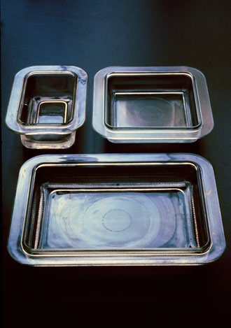 Sasaki tableware, Japan, 1985/86/87 Once again, we were playing with the nature of light.