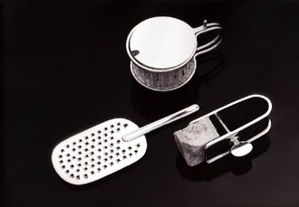 Silver tea set for Cleto Munari, Italy, 1984 Lella s