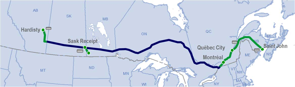 Energy East project description The proposed conversion of a section of TransCanada s Mainline pipeline system from natural gas to crude oil service would provide eastern Canadian refineries, and