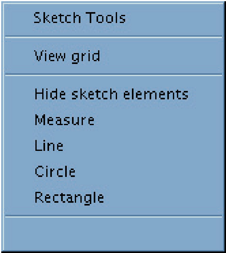 ARE DIVISIONS & REFERENCE MATERIALS: GRAPHIC VIGNETTE SECTIONS Common Tools VIEW GRID Opens a visible grid on the background drawing. HIDE SKETCH ELEMENTS Hides all sketch items you draw.