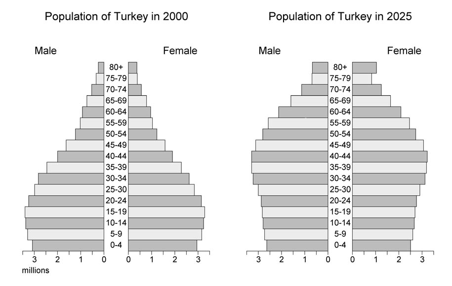 Turkey s population problem is the opposite of that of Western Europe.