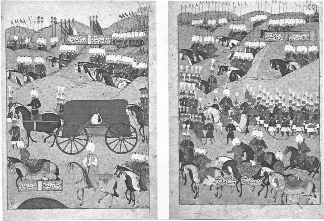 Polo game (left) and entertainment of a