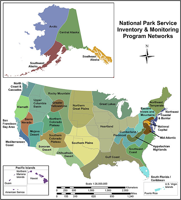 Department of the Interior (DOI) Source: National Park Service Inventory and Monitoring Networks, at