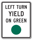 Stop and look for oncoming traffic, then proceed with caution. Keep Right: A traffic island, median or barrier is ahead. Keep to the side indicated by the arrow.