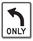 No Passing Zone: This sign marks the beginning of a no passing zone. You may not pass cars ahead of you in your lane, even if the way is clear.