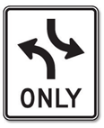 Lane Reduction: The right lane ends soon. Drivers in the right lane must merge left when space opens up.