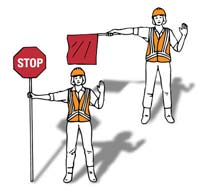 Crossbuck, Flashing Lights and Gate: Gates are used with flashing light signals at some crossings. Stop when the lights begin to flash and before the gate lowers.