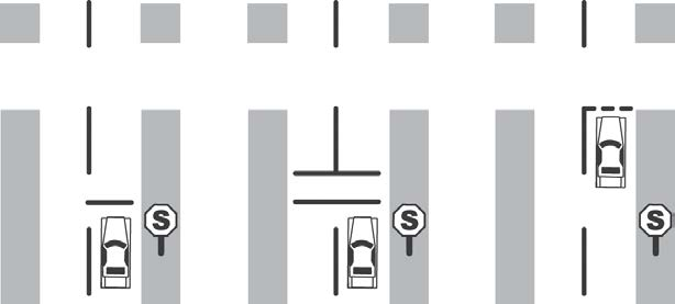 If there is no stop line, pull up and stop near the edge of the intersection, look both ways, and then proceed