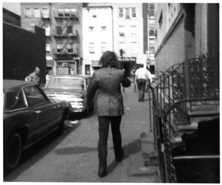 Fig 1: Vito Acconci, Following Piece Street Works IV, Architectural League of New York; Oct 3-25,1969; New York City, various locations. Activity; 23 days, varying times each day.