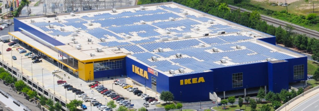 2 IKEA As of June 2014, IKEA had PV on 40 (nearly 90%) of its U.S.