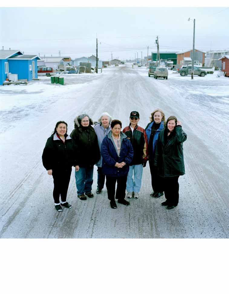 Staff and volunteers outside the Arctic Women in Crisis Center in Barrow, Alaska. The Center is the only safe shelter for 500 miles.