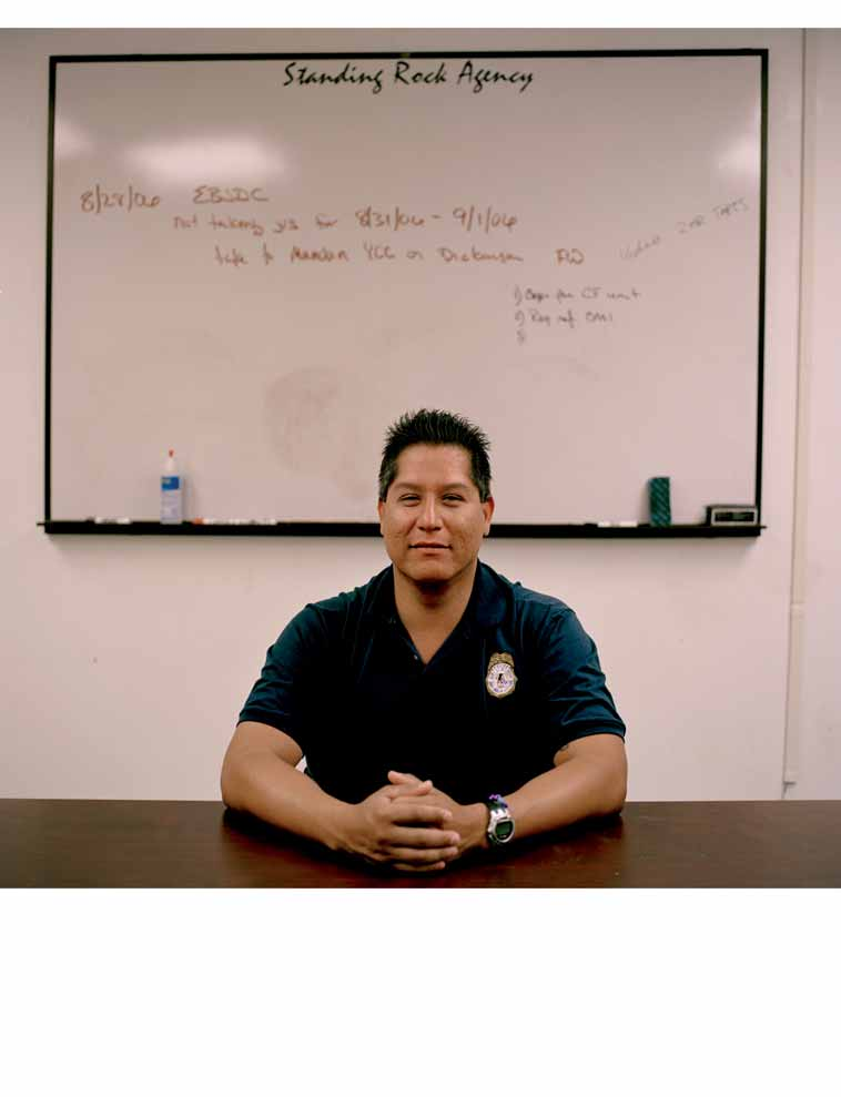 Lieutenant Michael White, Police Department, Bureau of Indian Affairs, Standing Rock Sioux Reservation.