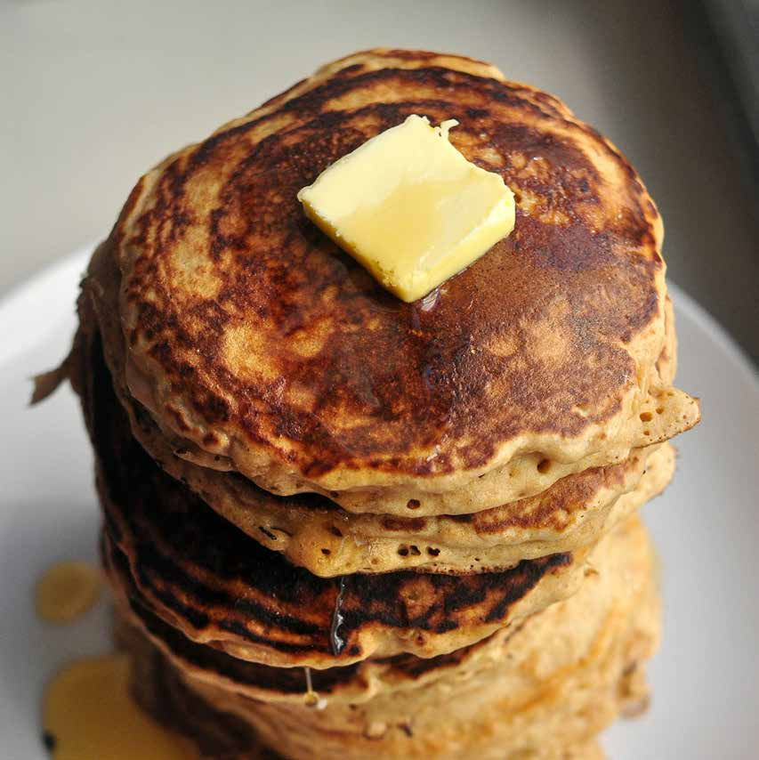 Banana Pancakes m akes ten to fourteen pancakes With the creamy texture and delicious flavor of bananas, these pancakes are stunningly good.
