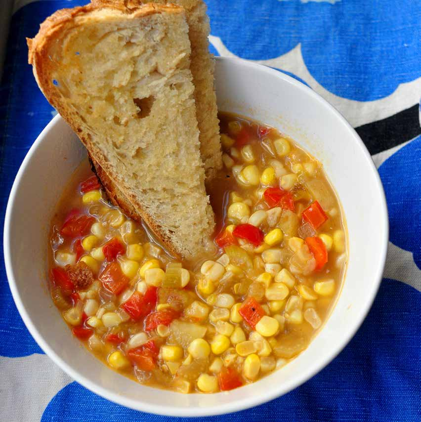 Corn Soup f o r fo u r to s i x This thick, sweet, satisfying soup is a favorite of kids and adults.