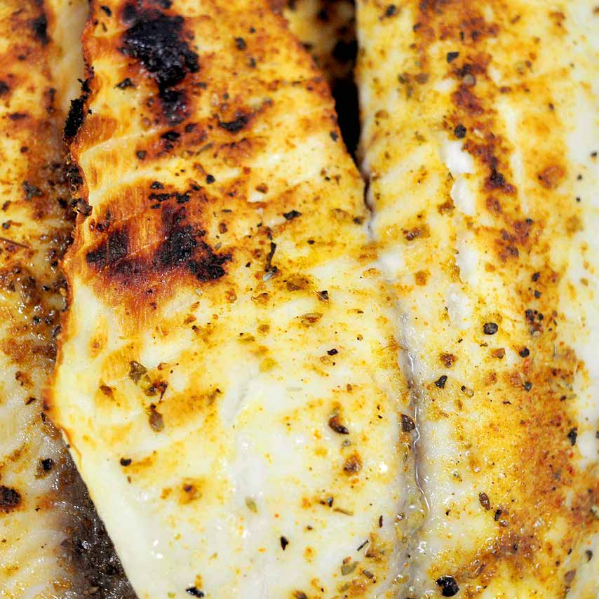 $ 9 t o t a l $ 4.50 / s e r v i n g Spicy Broiled Tilapia with Lime f o r t w o This meal comes together so quickly it s astonishing.