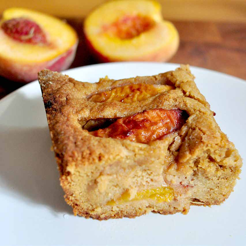 Peach Coffee Cake f o r t w e lv e $ 9 t o t a l $ 0.75 / s e r v i n g This is adapted from the apple cake often served during Rosh Hashanah.