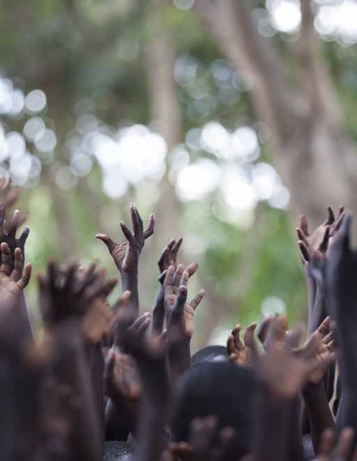 Cover photograph: Students in a classroom in Kursa Primary School in the Afar region of Ethiopia. UNICEF/ETHA_201300488/Ose Inside cover photograph: Students hold up their hands at a school in Uganda.