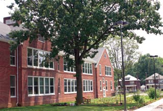 The schools emphasize natural daylighting with high performance windows and energy-efficient light fixtures.