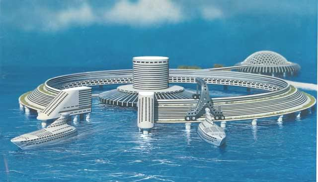 CITIES IN THE SEA Thousand of self-sufficient cities in the sea, varying in design according to their