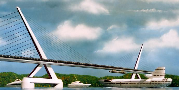 BRIDGES These elegant bridges are designed to carry compression, tension and torsion loads in the simplified expression of its