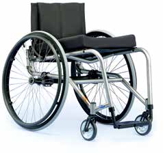To reduce the energy required, current research suggests that a person who is able to self-propel a manual wheelchair should use the lightest possible wheelchair (Figure 6B) with adjustable wheels