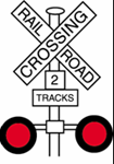 When a train is approaching and lights are flashing you must stop prior to the stop line or gate crossing area.