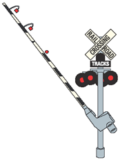 Some highway-railroad grade crossings also have a bell or a horn that will sound. You should not cross until the bell or horn has stopped.