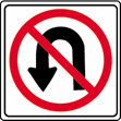 symbols. Some regulatory signs have a red circle with a red slash over a symbol.