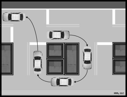 Left turns When making a left turn and the light turns green, pull into the intersection to be ready to turn.