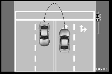 To perform a three-point turnabout: Check the mirrors and activate your right turn signal to communicate your intention to pull off to the right side of the road. Stop on the right side of the road.