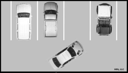 Exiting a Perpendicular or Angle Parking Space When exiting the parking space start the engine, check for traffic in all directions, place your foot on the brake, shift to reverse and signal in the