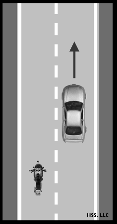 Nearly 40 percent were caused by the other vehicle turning left in front of the motorcyclist/scooter/moped.