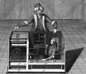 The Mechanical Turk This pretotyping technique borrows its name from the famous Mechanical Turk chess-playing machine that was touring the world in late 18 th century.